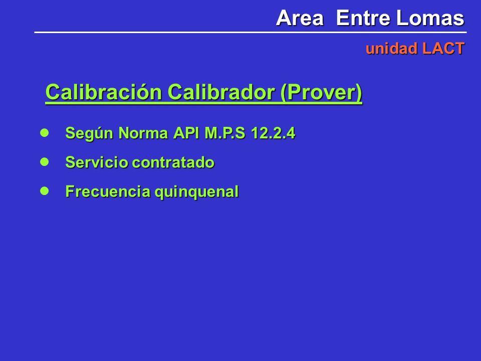 Calibración Calibrador (Prover)