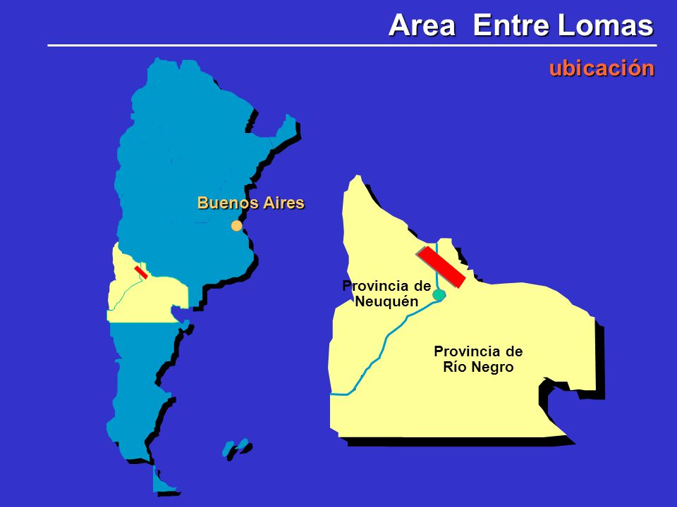 Area Entre Lomas ubicación Buenos Aires Provincia de Neuquén