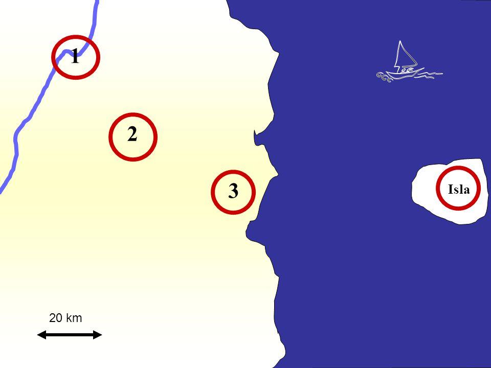 1 2 3 Isla 20 km
