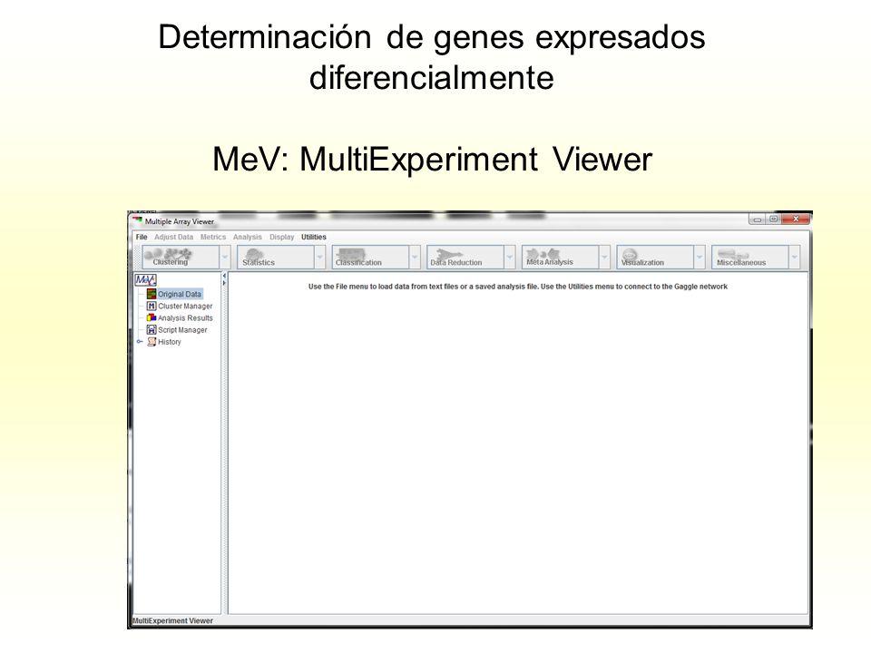 Determinación de genes expresados diferencialmente