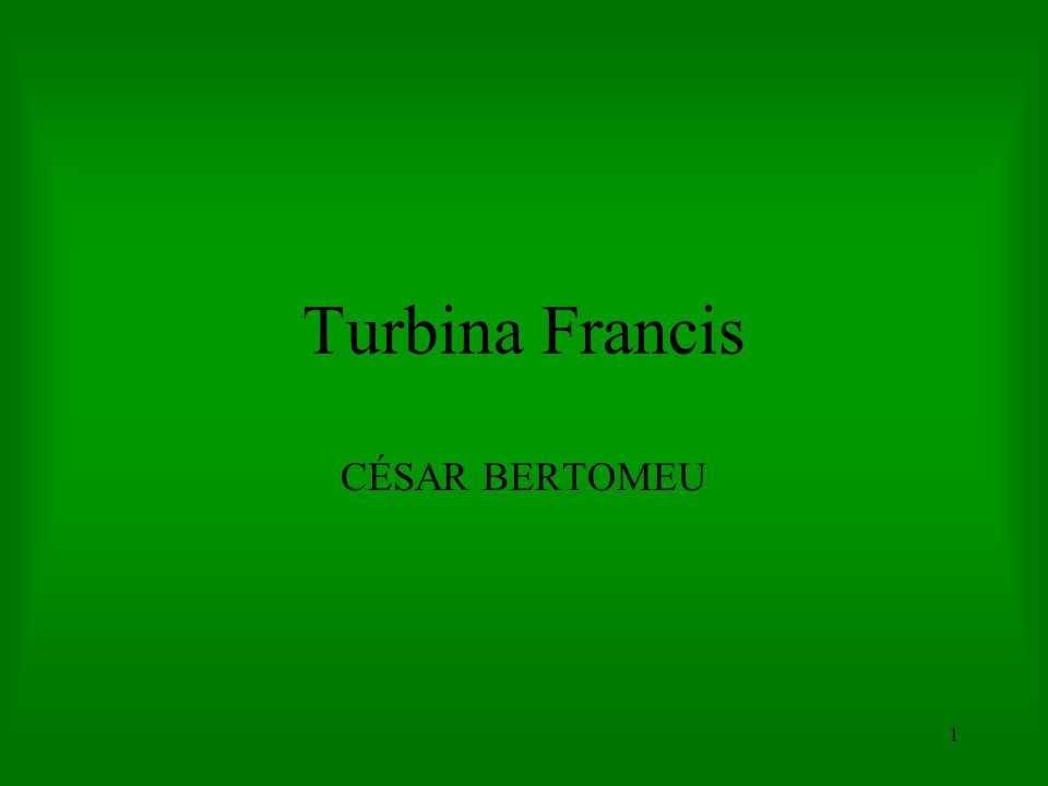 Turbina Francis CÉSAR BERTOMEU