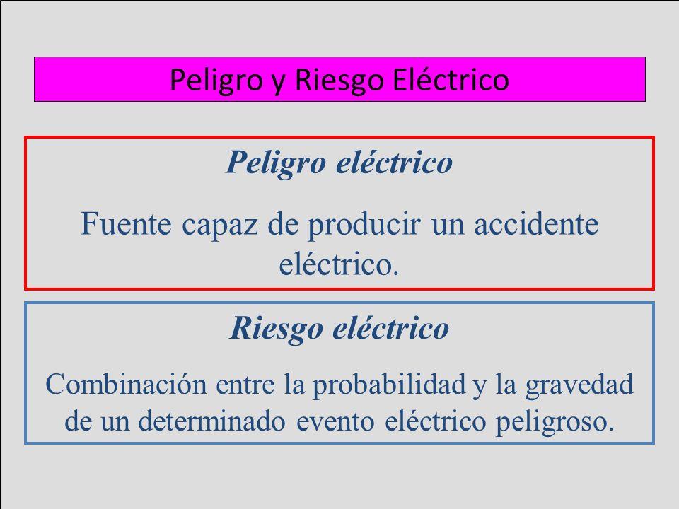 Peligro y Riesgo Eléctrico