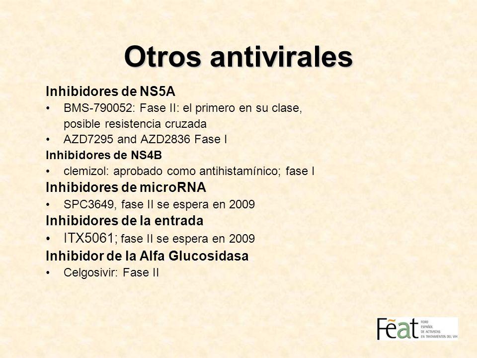 Otros antivirales Inhibidores de NS5A Inhibidores de microRNA