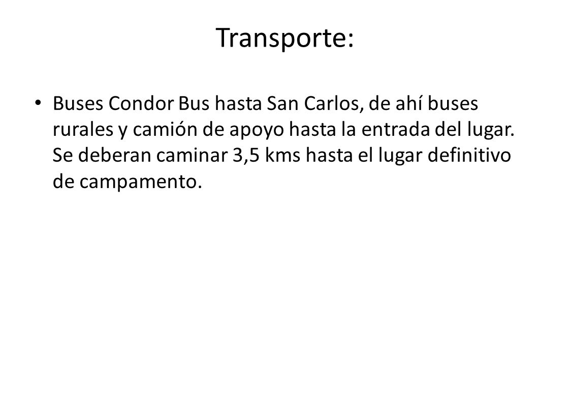 Transporte: