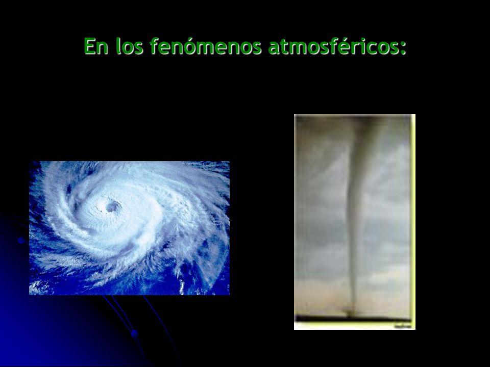 En los fenómenos atmosféricos: