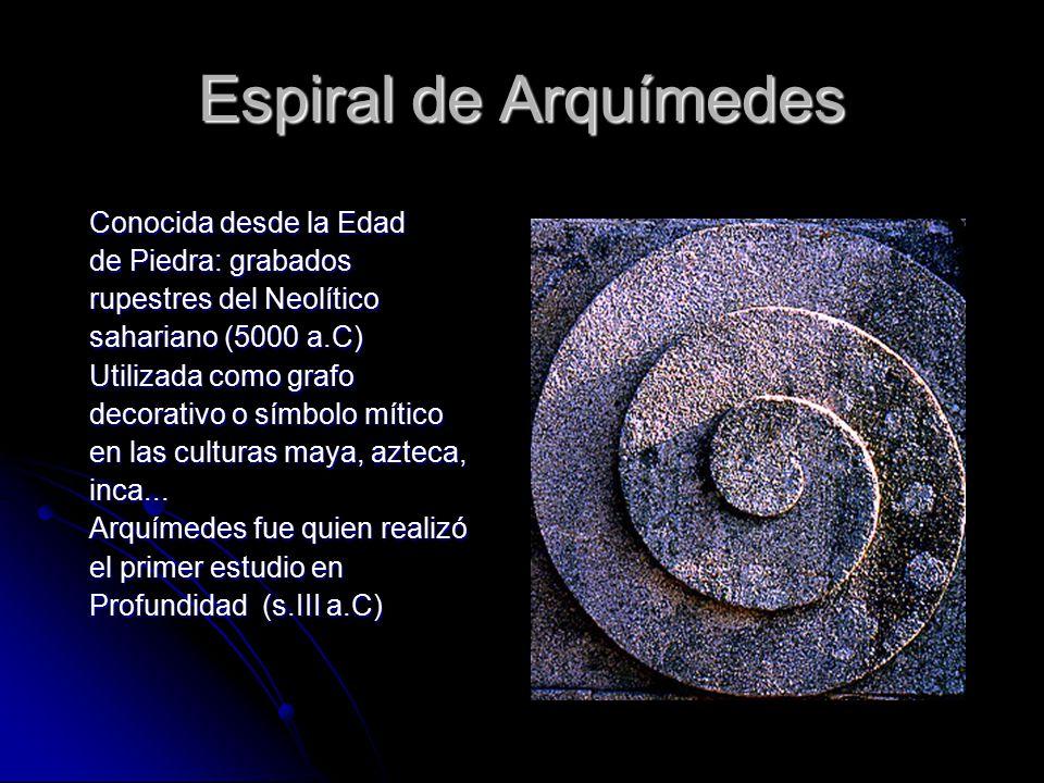 Espiral de Arquímedes Conocida desde la Edad de Piedra: grabados