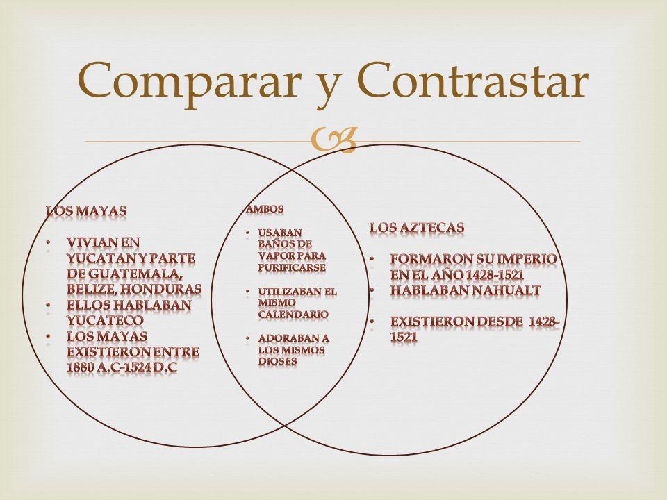 Comparar y Contrastar Los Mayas