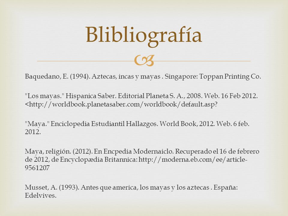 Blibliografía