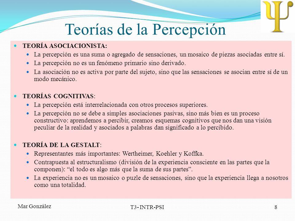 Teorías de la Percepción