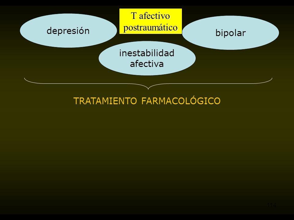 T afectivo postraumático depresión bipolar inestabilidad afectiva
