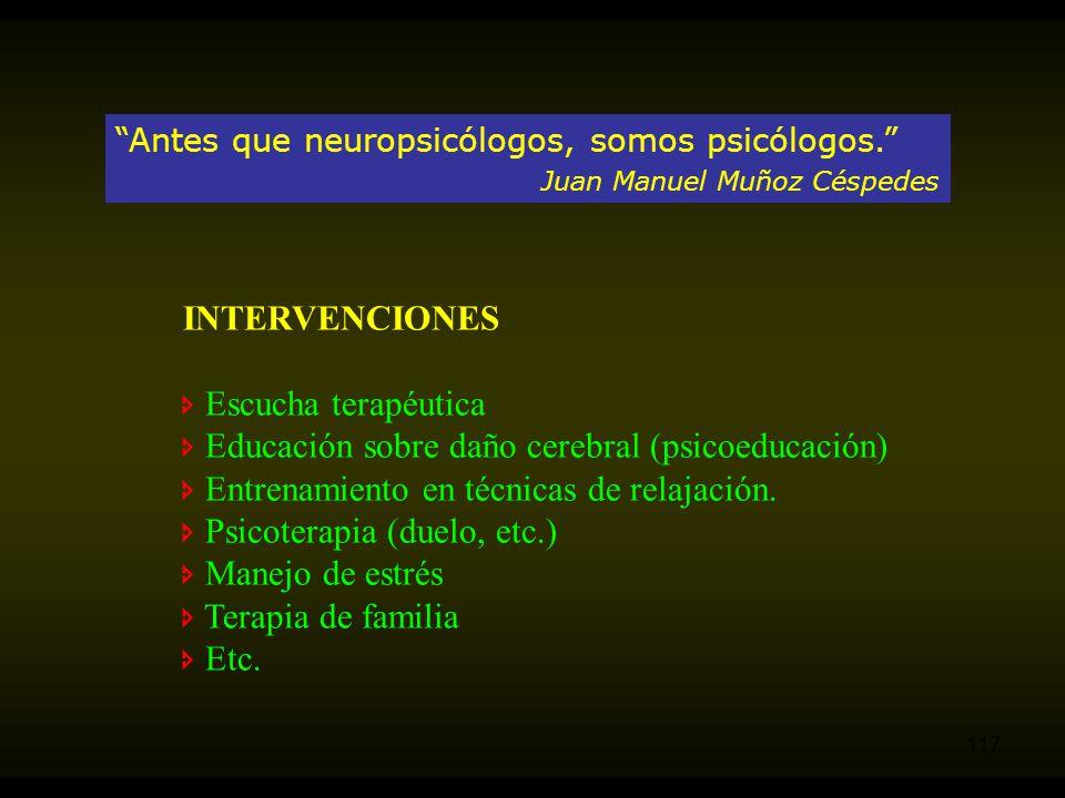  Educación sobre daño cerebral (psicoeducación)