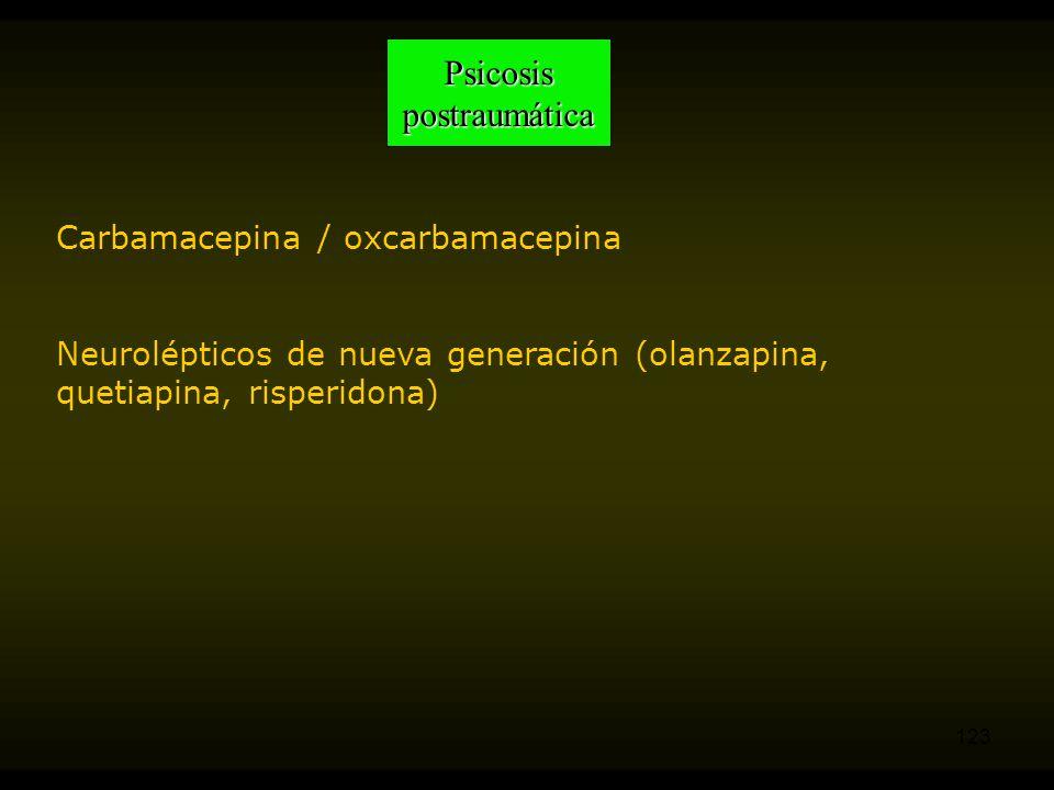 Psicosis postraumática Carbamacepina / oxcarbamacepina