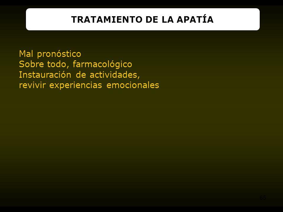 TRATAMIENTO DE LA APATÍA
