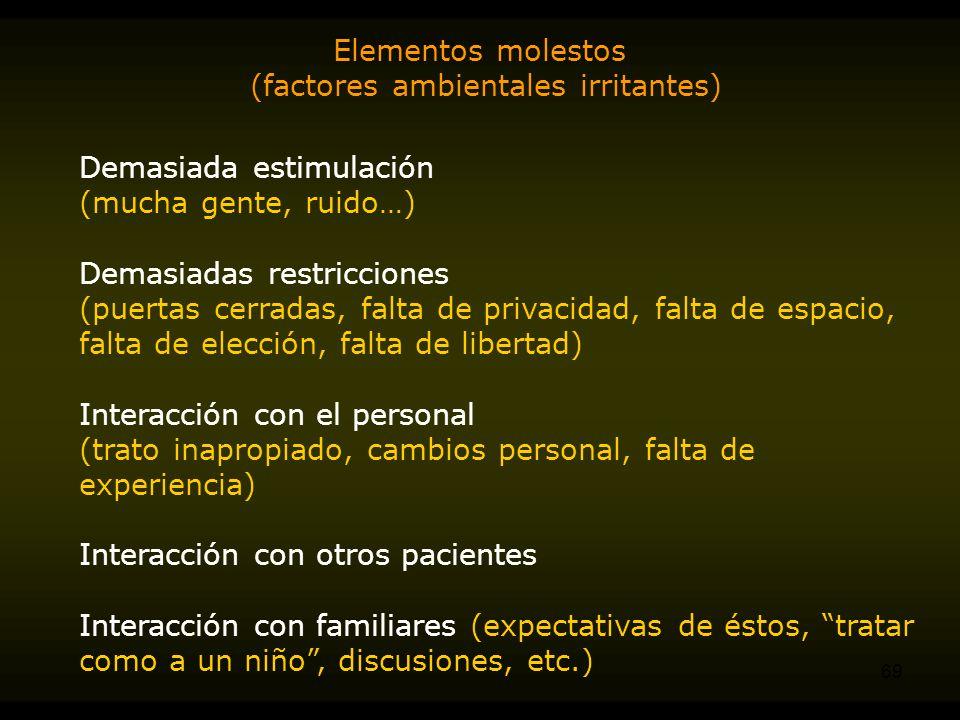 (factores ambientales irritantes)