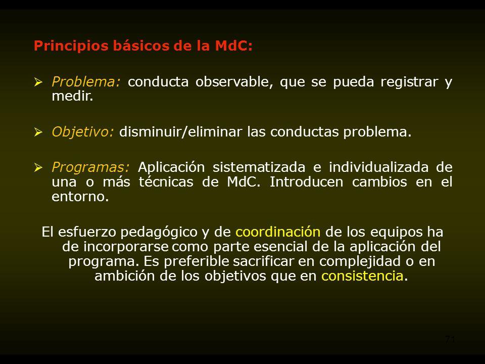 Principios básicos de la MdC: