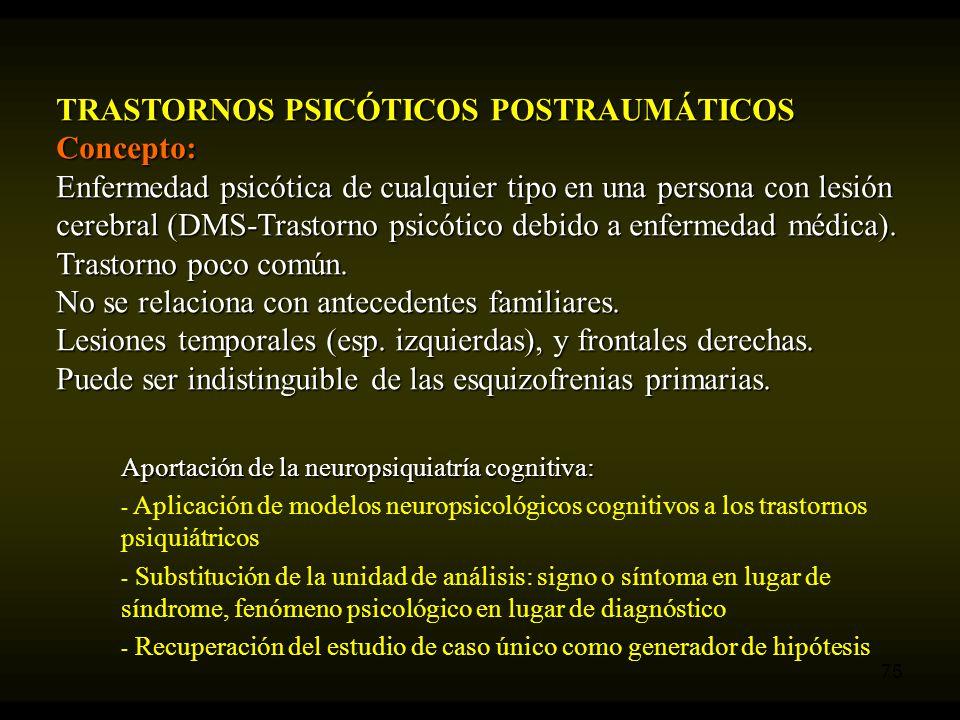 TRASTORNOS PSICÓTICOS POSTRAUMÁTICOS Concepto: