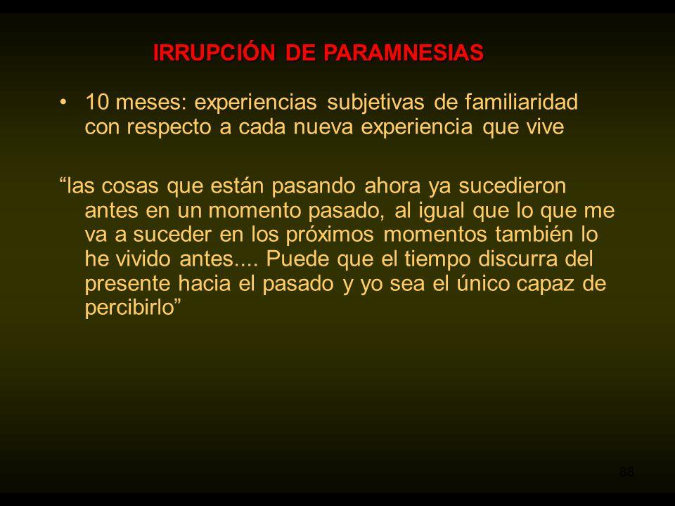 IRRUPCIÓN DE PARAMNESIAS