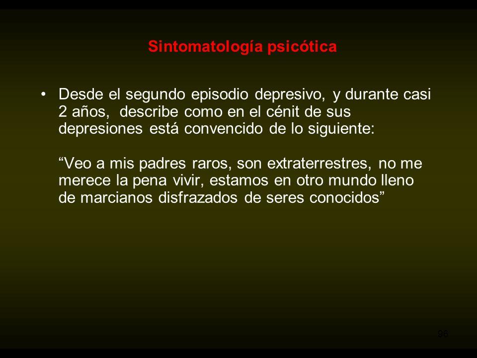 Sintomatología psicótica