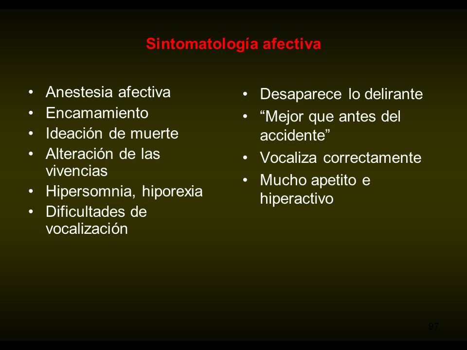 Sintomatología afectiva
