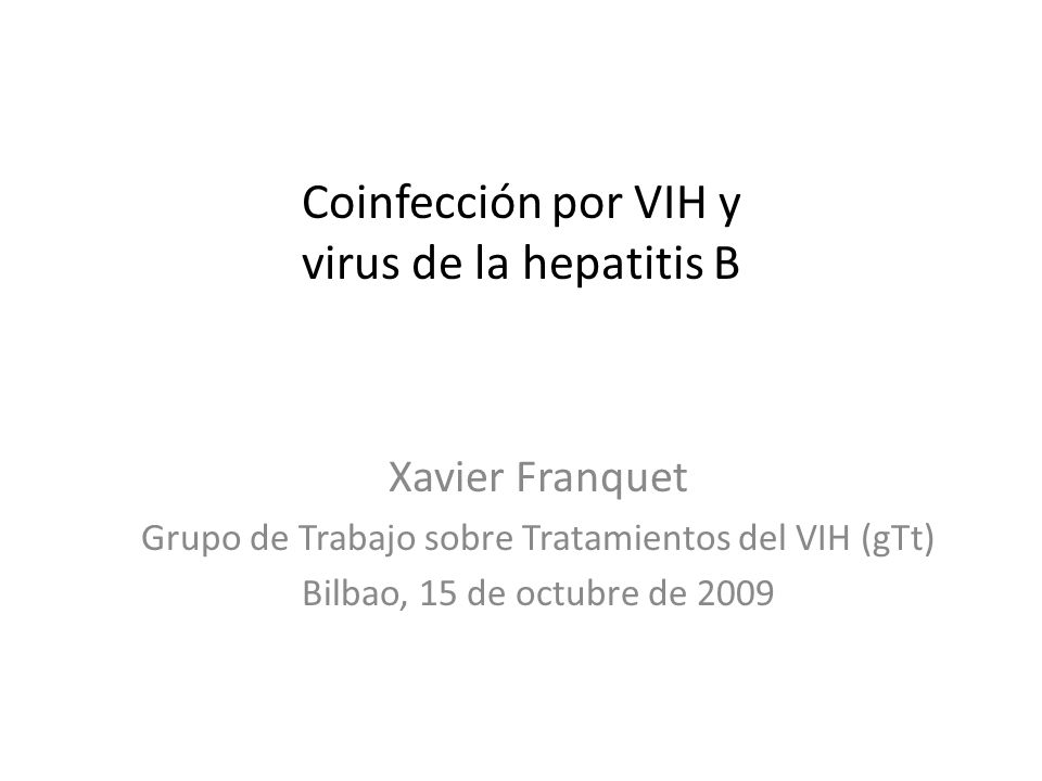 Coinfección por VIH y virus de la hepatitis B