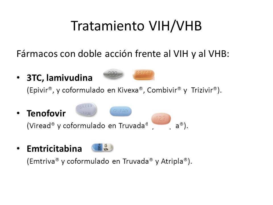 Tratamiento VIH/VHB Fármacos con doble acción frente al VIH y al VHB: