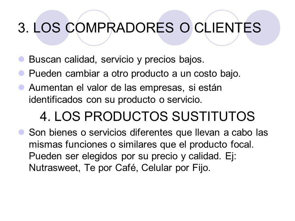 3. LOS COMPRADORES O CLIENTES