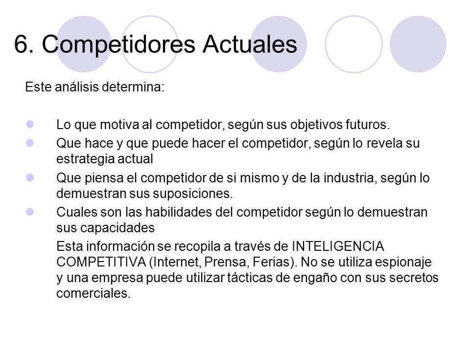 6. Competidores Actuales