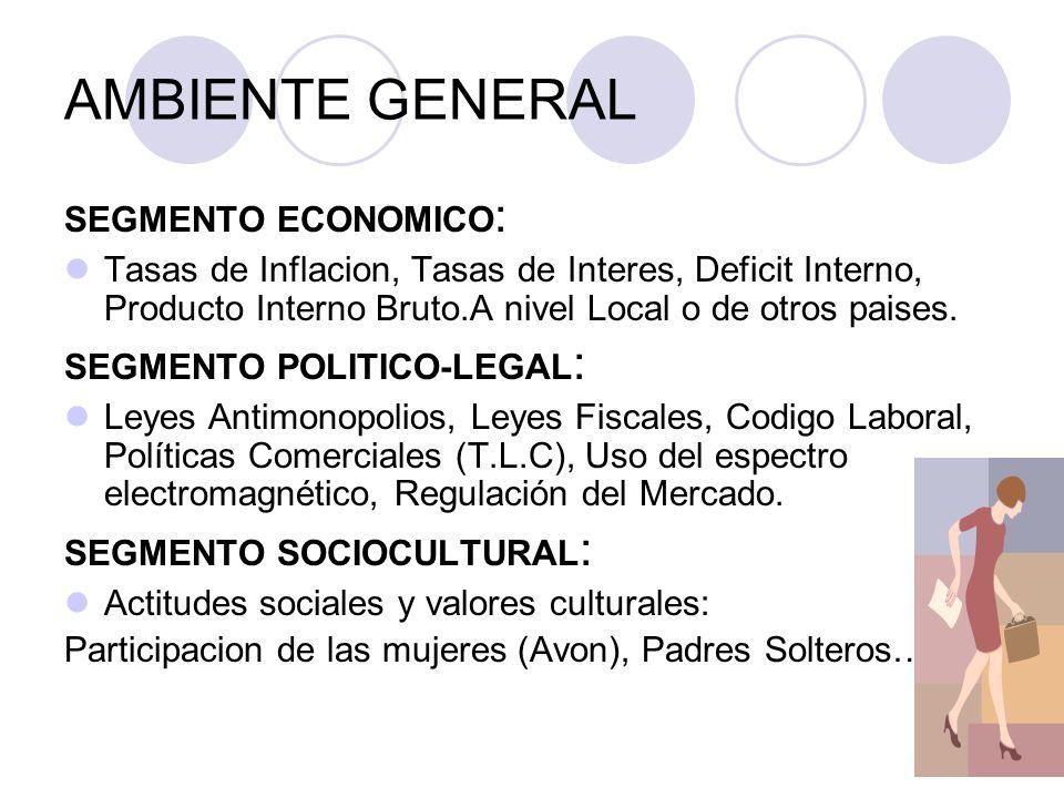 AMBIENTE GENERAL SEGMENTO ECONOMICO: