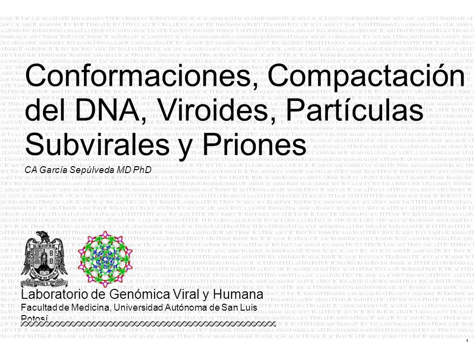 Conformaciones, Compactación del DNA, Viroides, Partículas