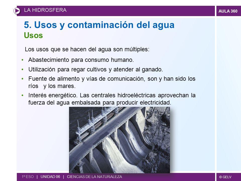 5. Usos y contaminación del agua
