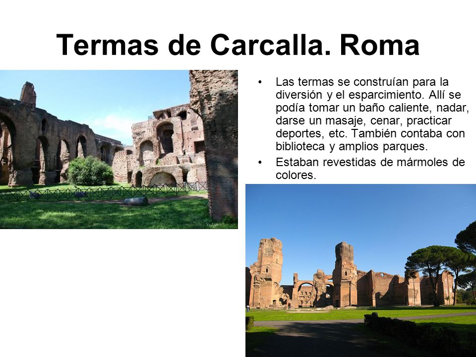 Termas de Carcalla. Roma
