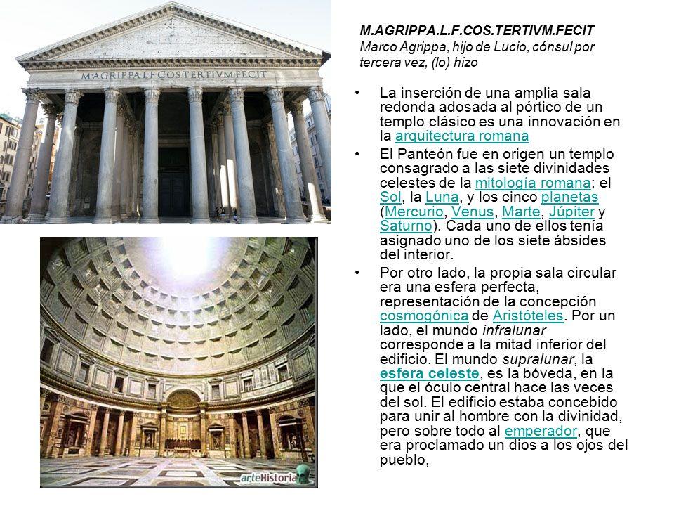 M. AGRIPPA. L. F. COS. TERTIVM