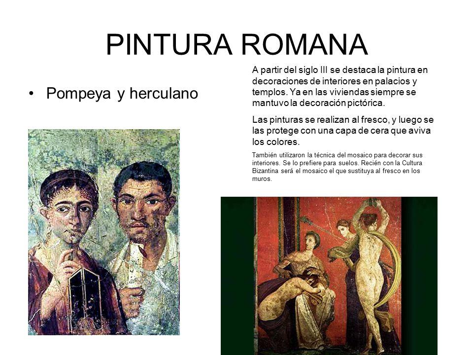 PINTURA ROMANA Pompeya y herculano