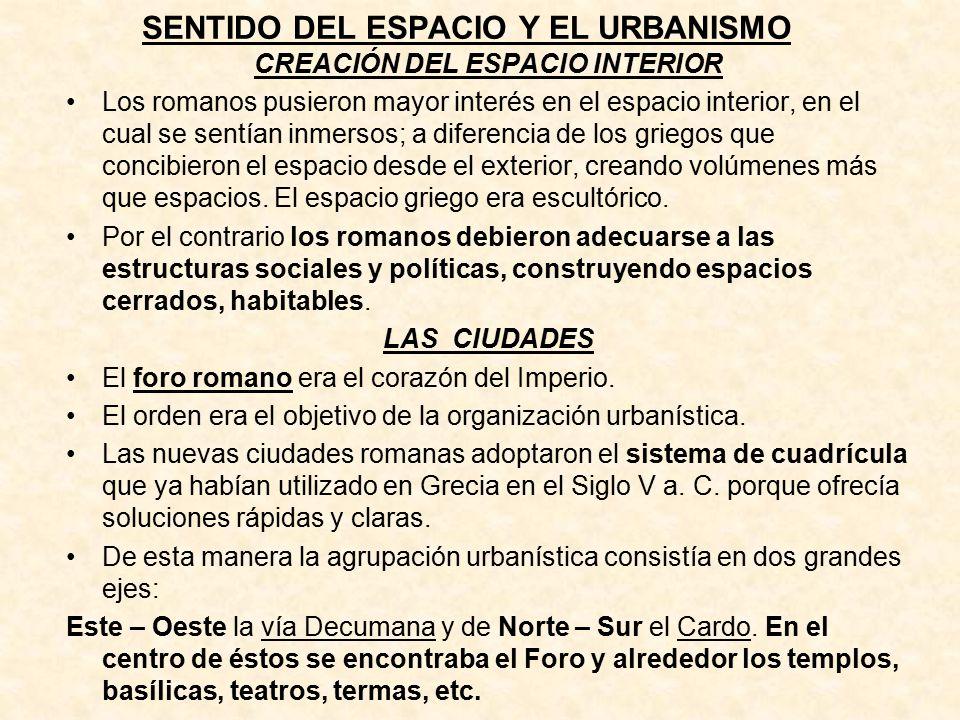 SENTIDO DEL ESPACIO Y EL URBANISMO
