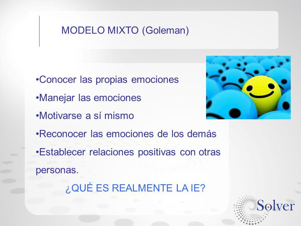 MODELO MIXTO (Goleman)