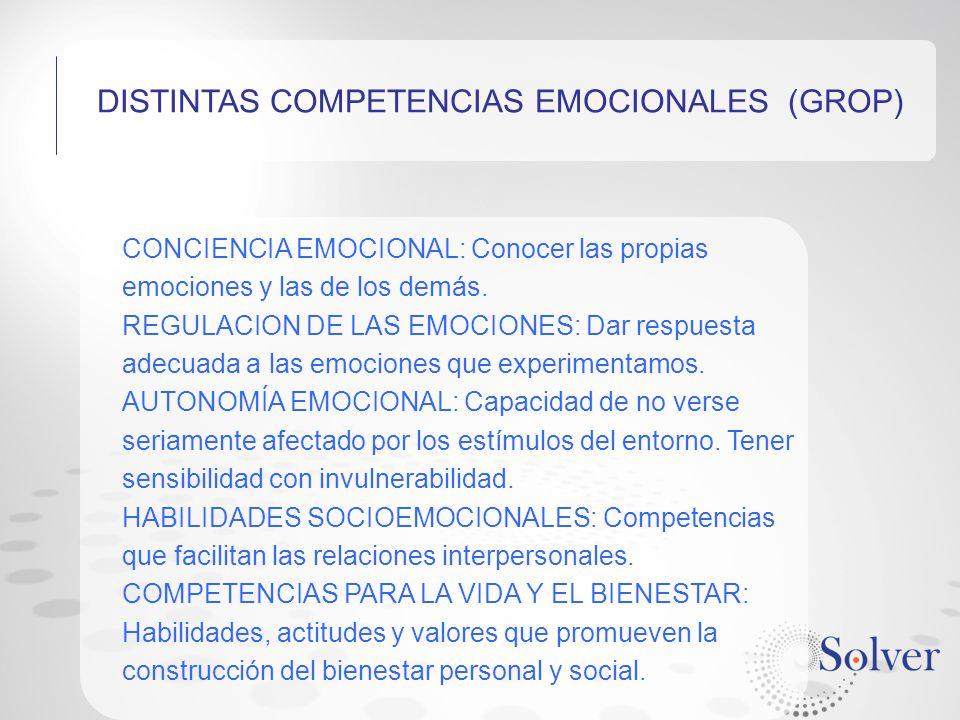 DISTINTAS COMPETENCIAS EMOCIONALES (GROP)