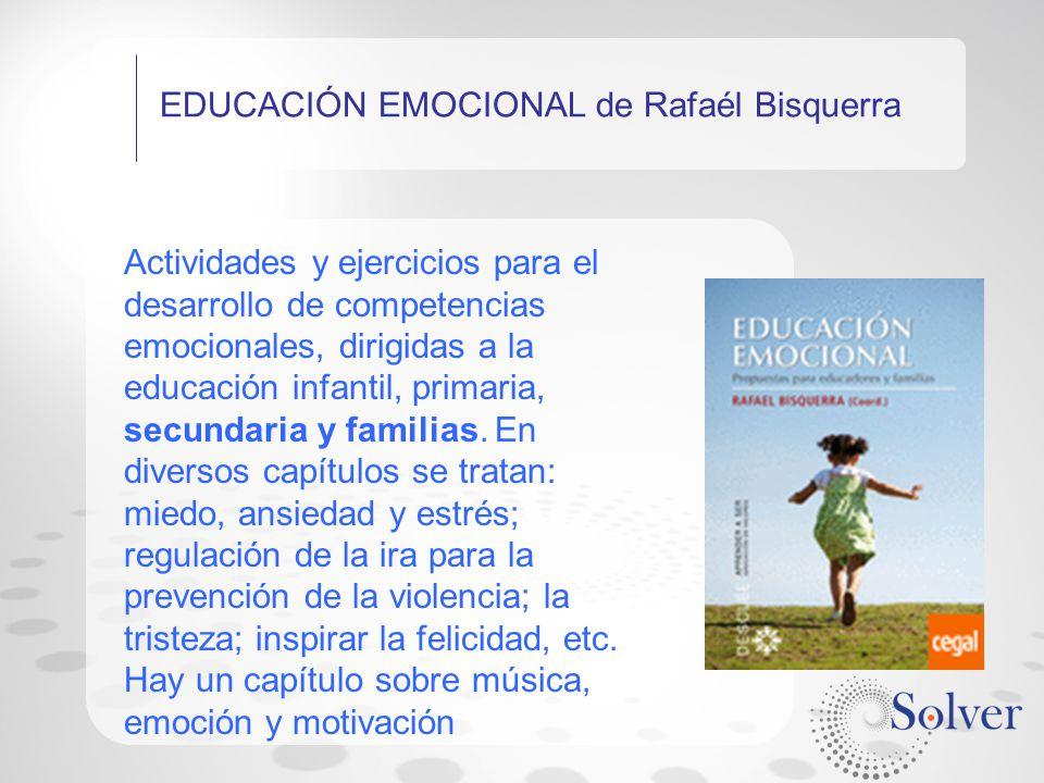 EDUCACIÓN EMOCIONAL de Rafaél Bisquerra