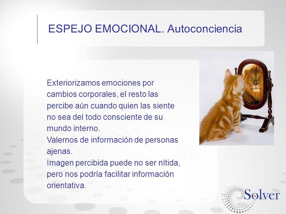 ESPEJO EMOCIONAL. Autoconciencia