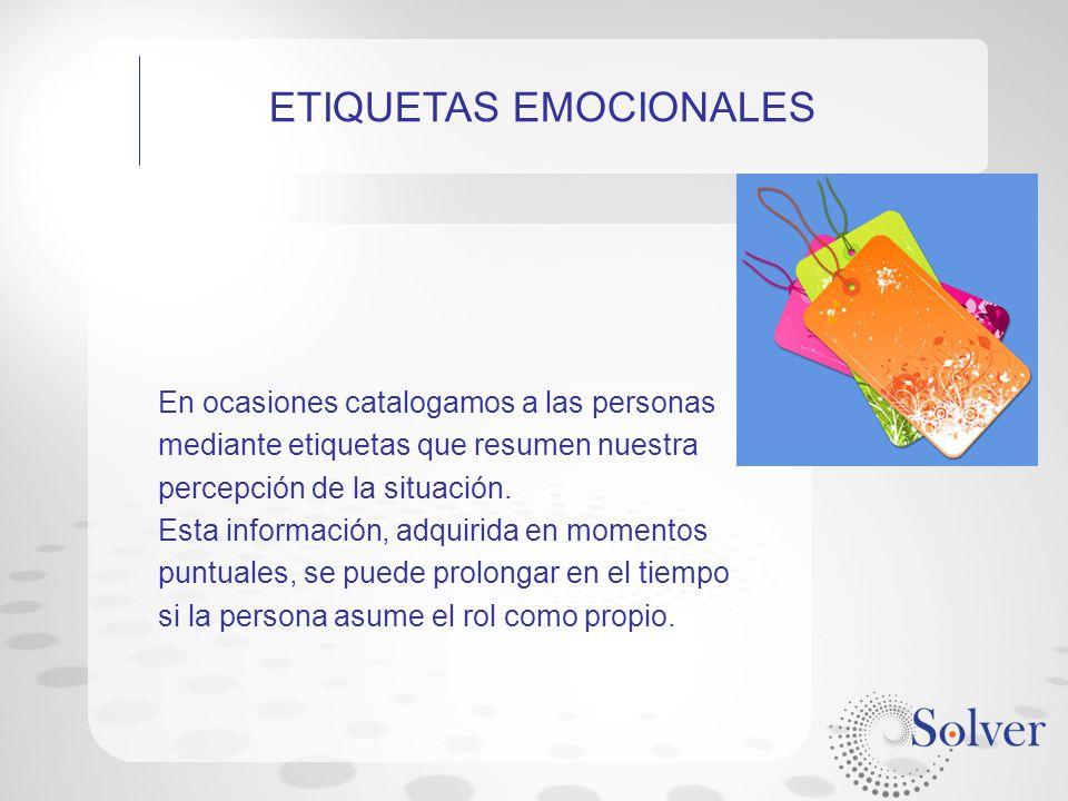 ETIQUETAS EMOCIONALES