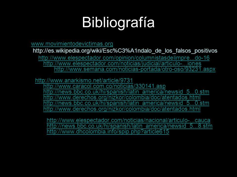 Bibliografía www.movimientodevictimas.org