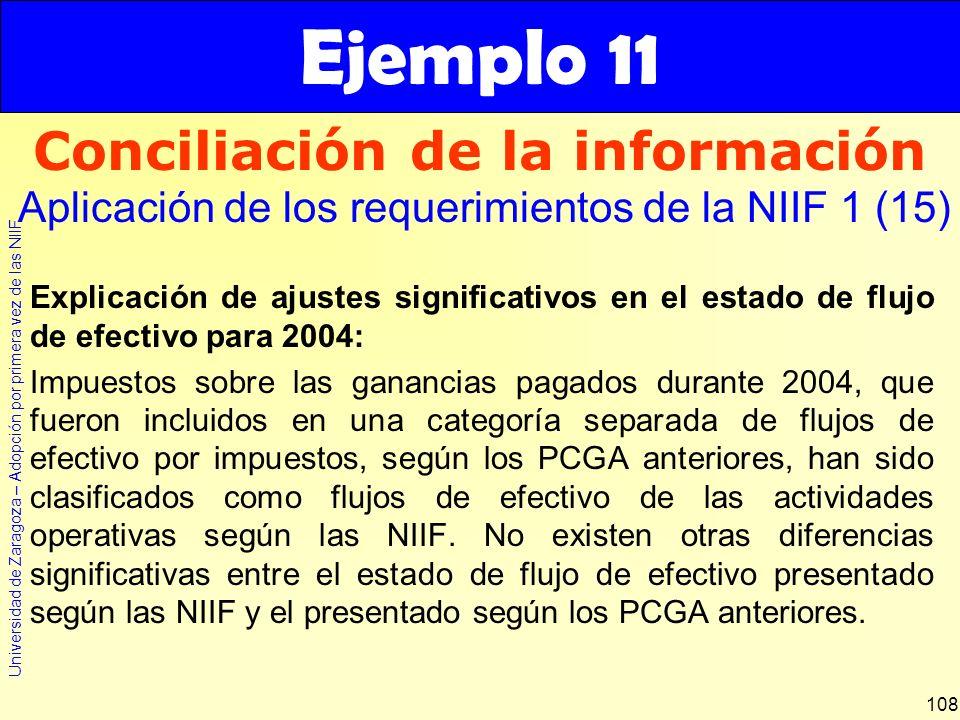 Conciliación de la información