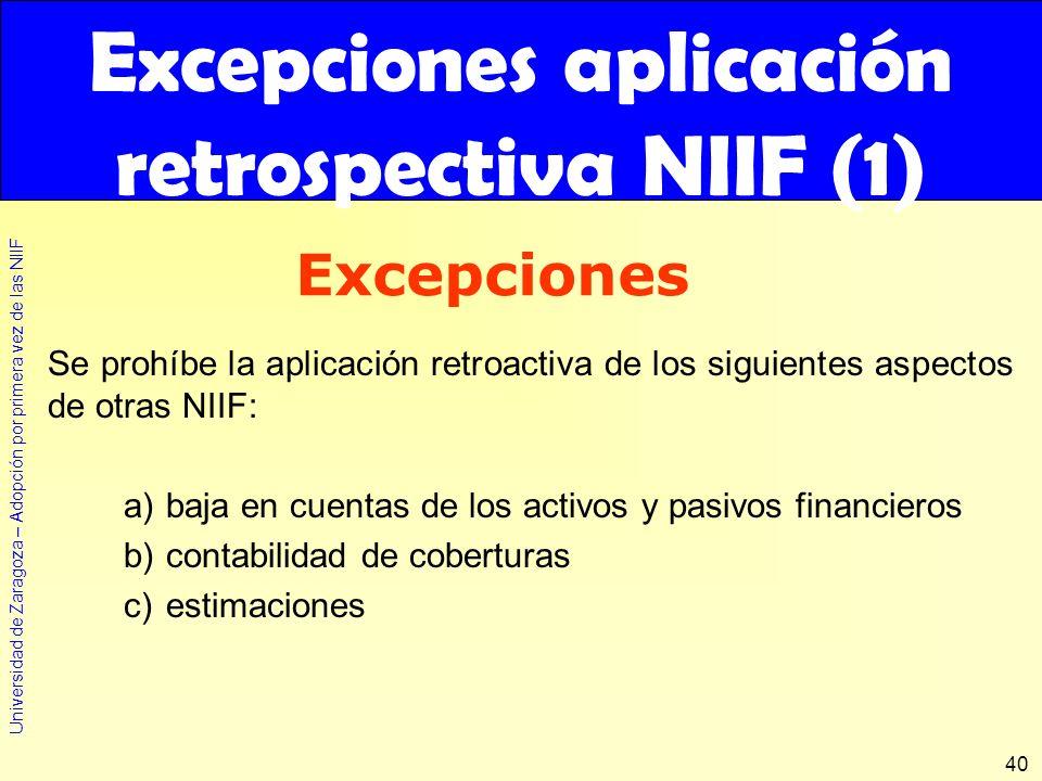 Excepciones aplicación retrospectiva NIIF (1)