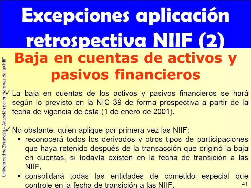 Excepciones aplicación retrospectiva NIIF (2)