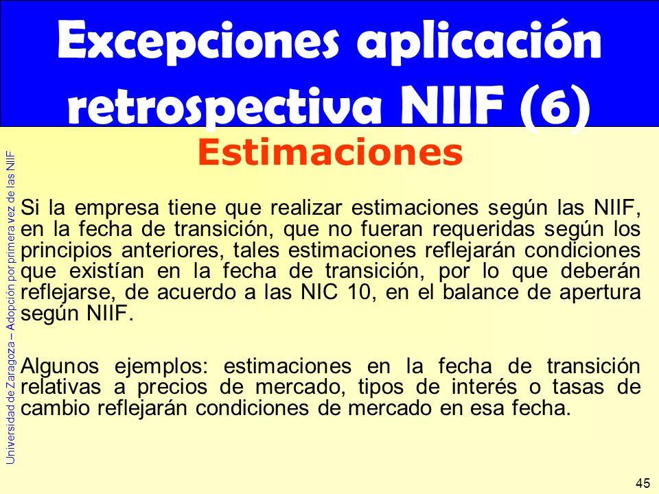 Excepciones aplicación retrospectiva NIIF (6)