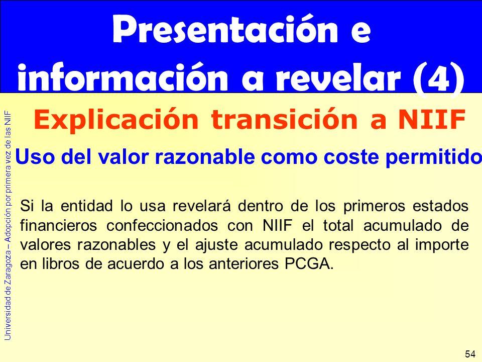 Presentación e información a revelar (4)