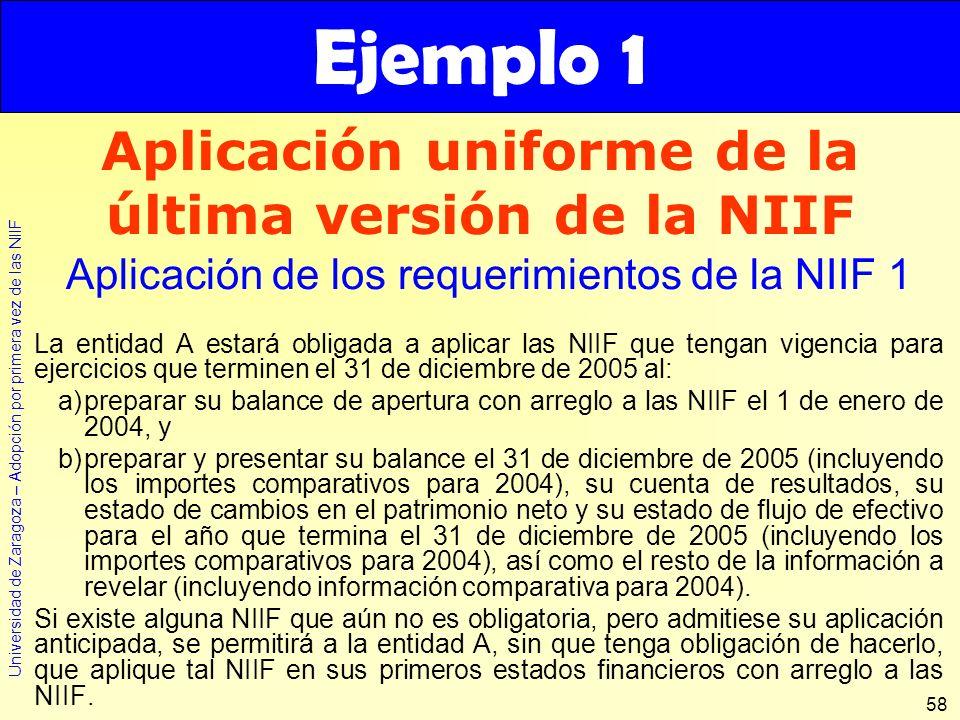 Aplicación uniforme de la última versión de la NIIF