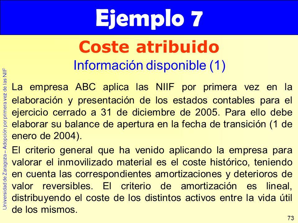 Ejemplo 7 Coste atribuido