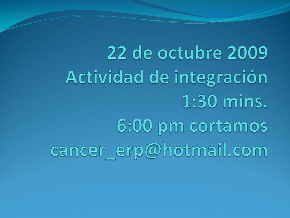 22 de octubre 2009 Actividad de integración 1:30 mins