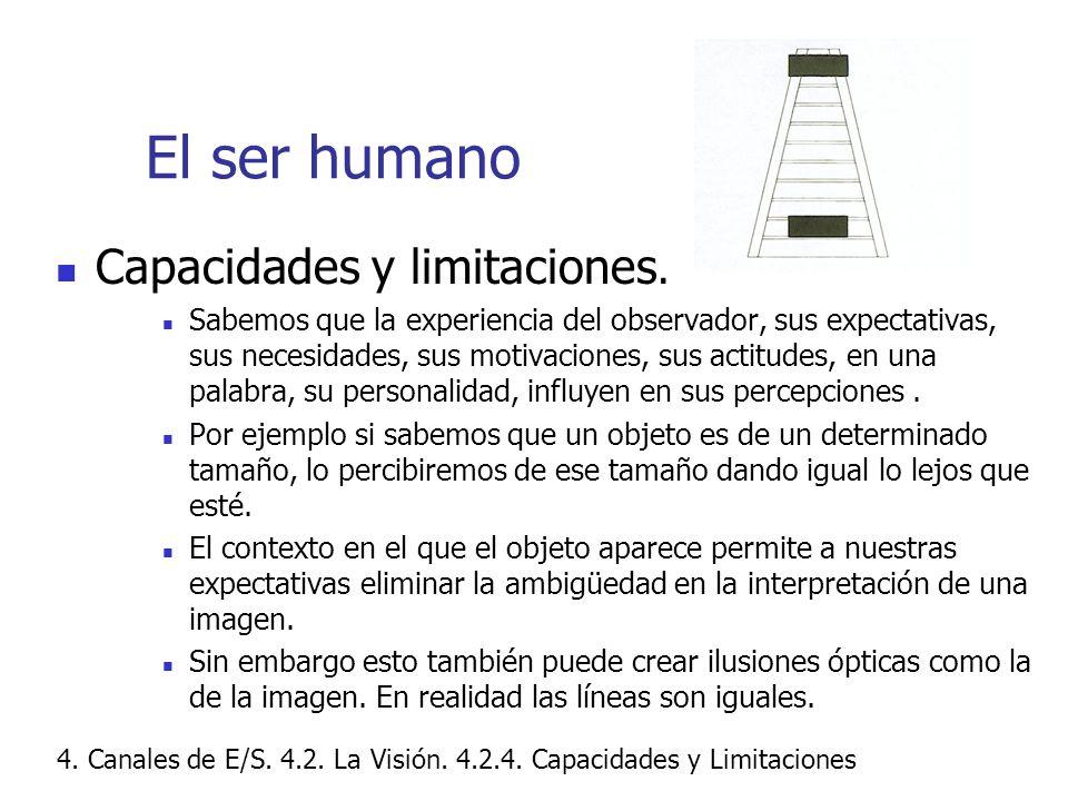 El ser humano Capacidades y limitaciones.