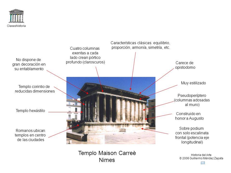 Templo Maison Carreè Nimes Características clásicas: equilibrio,